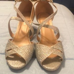 Silver glitter dressy shoes